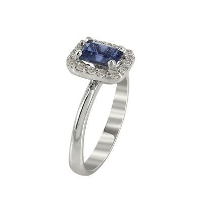 Μονόπετρο Δαχτυλίδι Ροζέτα Με Διαμάντια Brilliant K18 DX97183