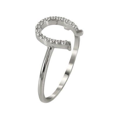 Λευκόχρυσο Δαχτυλίδι Με Πέταλο DX70670