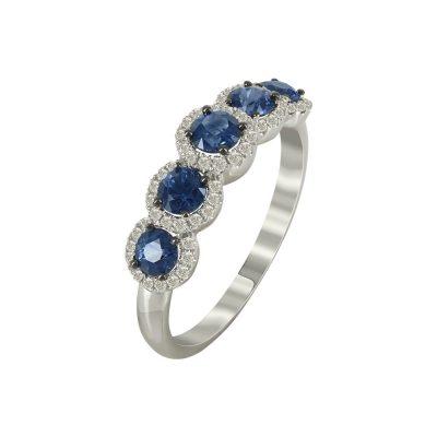 Μισόβερο Δαχτυλίδι Με Διαμάντια Brilliant K18 DX95578
