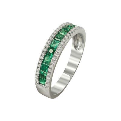 Μισόβερο Δαχτυλίδι Με Διαμάντια Brilliant K18 DX95519