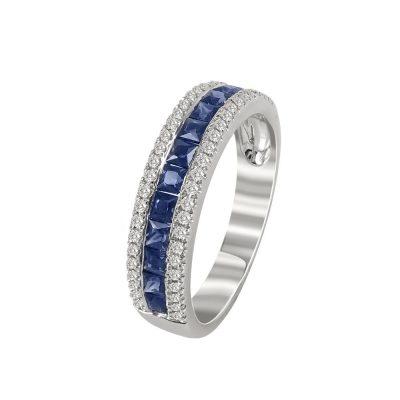 Μισόβερο Δαχτυλίδι Με Διαμάντια Brilliant K18 DX95517