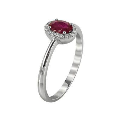 Μονόπετρο Δαχτυλίδι Ροζέτα Με Διαμάντια Brilliant K18 DX79166