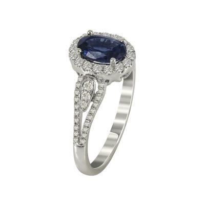 Μονόπετρο Δαχτυλίδι Ροζέτα Με Διαμάντια Brilliant K18 DX79395