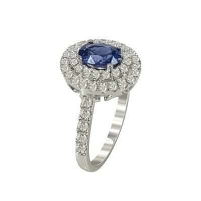 Μονόπετρο Δαχτυλίδι Ροζέτα Με Διαμάντια Brilliant K18 DX95593