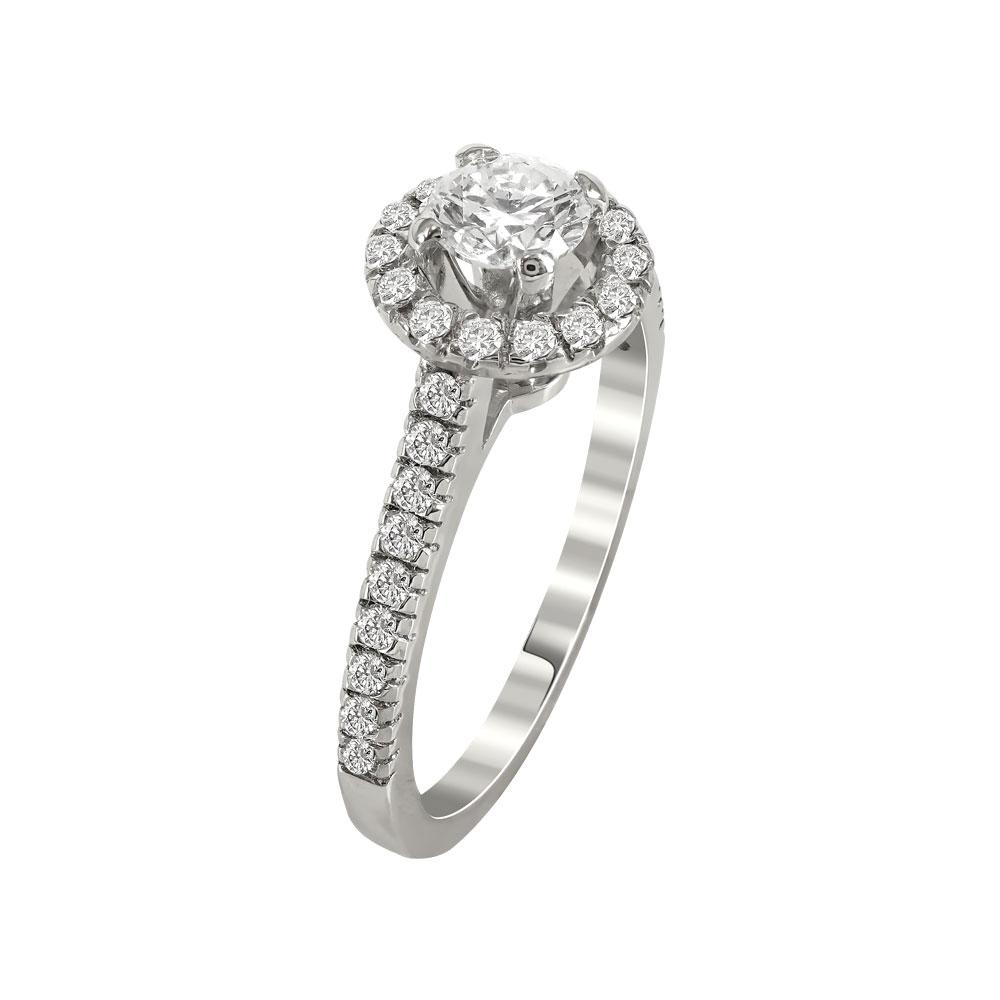 Μονόπετρο Δαχτυλίδι Με Διαμάντια Brilliant K18 DDX231