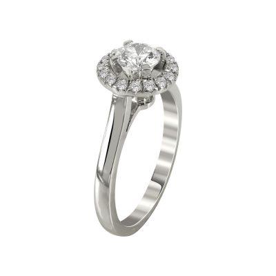 Μονόπετρο Δαχτυλίδι Με Διαμάντια Brilliant K18 DDX232