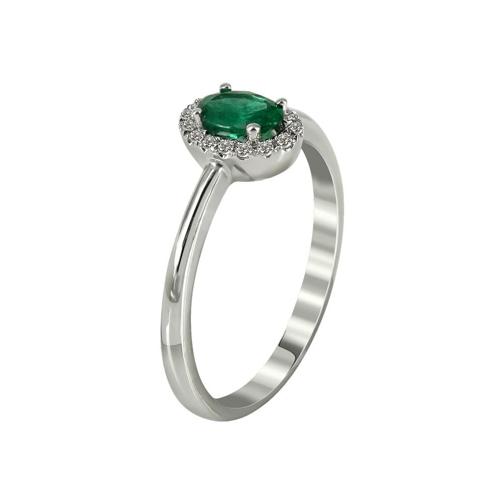 Μονόπετρο Δαχτυλίδι Ροζέτα Με Διαμάντια Brilliant K18 DX96624