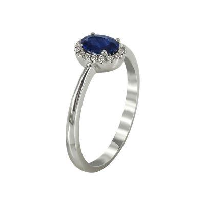 Μονόπετρο Δαχτυλίδι Ροζέτα Με Διαμάντια Brilliant K18 DX96622