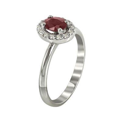 Μονόπετρο Δαχτυλίδι Ροζέτα Με Διαμάντια Brilliant K18 DX88296