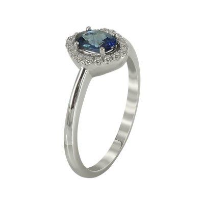 Μονόπετρο Δαχτυλίδι Ροζέτα Με Διαμάντια Brilliant K18 DX79398