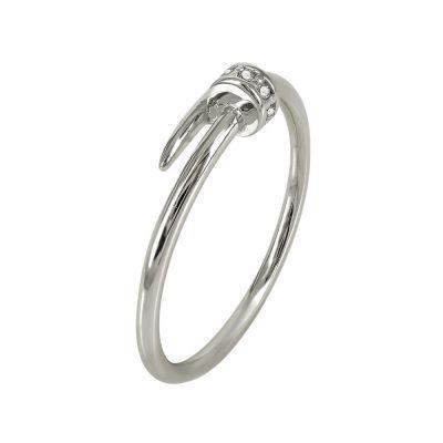 Λευκόχρυσο Δαχτυλίδι Με Καρφί K14 DX92220