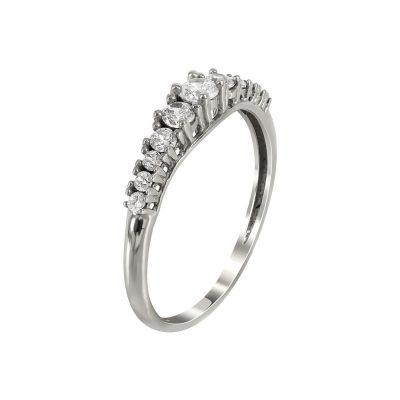 Λευκόχρυσο Δαχτυλίδι Μισόβερο Κ14 DX92928