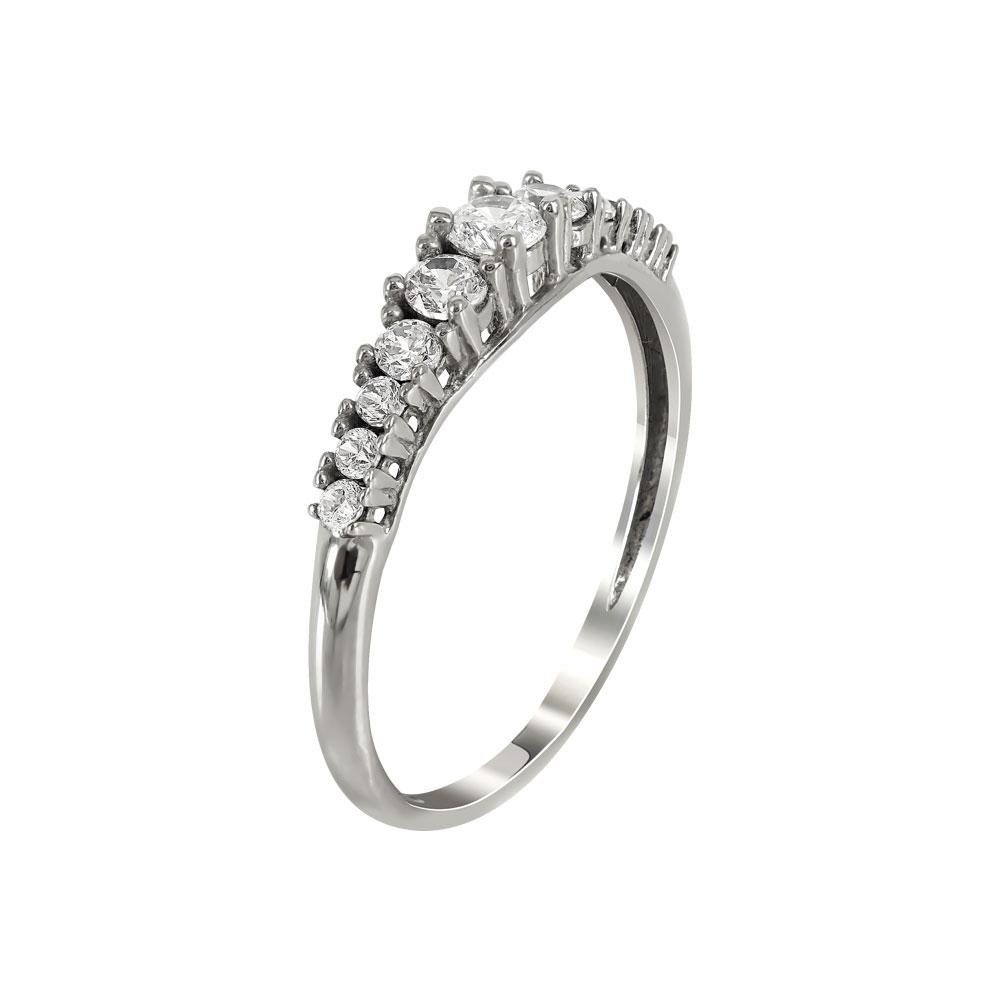 Λευκόχρυσο Δαχτυλίδι Σειρέ Κ14 DX92928