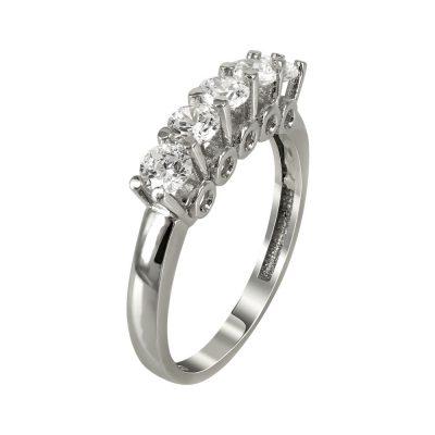 Λευκόχρυσο Δαχτυλίδι Μισόβερο Κ14 DX90987