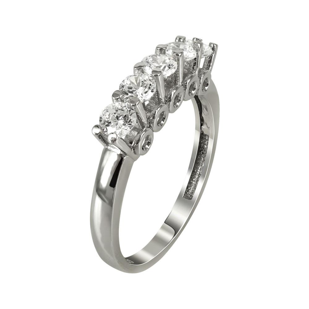 Λευκόχρυσο Δαχτυλίδι Μισόβερο Κ14 DX90987 81df5efa0ff