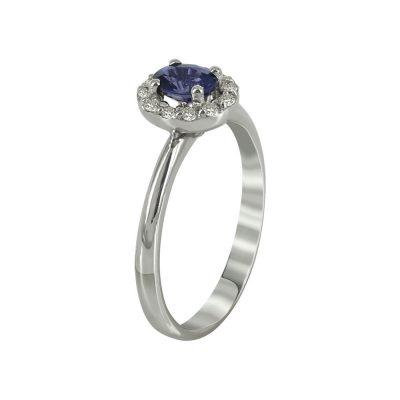 Μονόπετρο Δαχτυλίδι Ροζέτα Με Διαμάντια Brilliant K18 DX88295