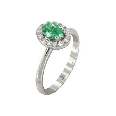 Μονόπετρο Δαχτυλίδι Ροζέτα Με Διαμάντια Brilliant K18 DX88290