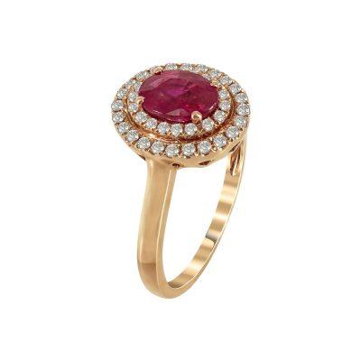 Μονόπετρο Δαχτυλίδι Ροζέτα Με Διαμάντια Brilliant K18 DX69341