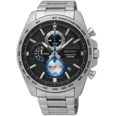 SEIKO Sport Mens Chronograph Stainless Steel Bracelet SSB257P1