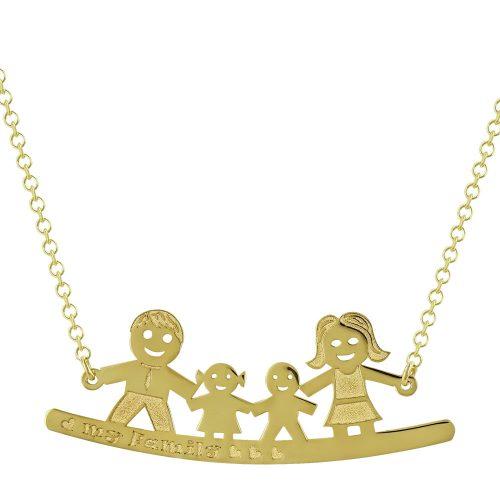 Κίτρινο Χρυσό Κολιέ My Family Κ14 KL688