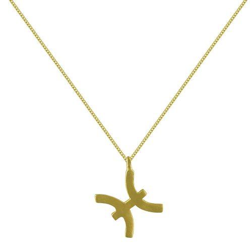 Κίτρινο Χρυσό Ζώδιο ΙΧΘΕΙΣ Κ14 ZD224