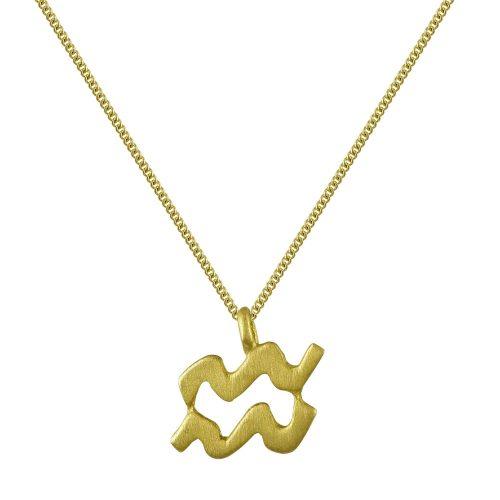 Κίτρινο Χρυσό Ζώδιο ΥΔΡΟΧΟΟΣ Κ14 ZD223