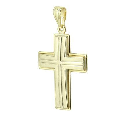 Σταυρός Βάπτισης Ανδρικός Σε Κίτρινο Χρυσό 9 Καρατίων ST2453