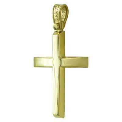 Σταυρός Βάπτισης Ανδρικός Σε Κίτρινο Χρυσό 14 Καρατίων ST2452
