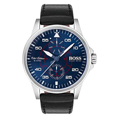BOSS Aviator Black Leather Strap 1513515