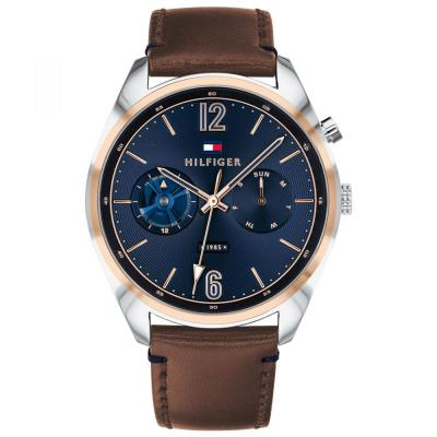 Tommy HILFIGER Multifunction Brown Leather Strap 1791549