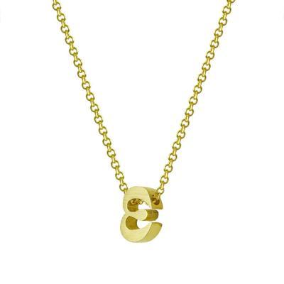 """Χρυσό Μονόγραμμα Μενταγιόν """"ε"""" Κ9 MG177"""