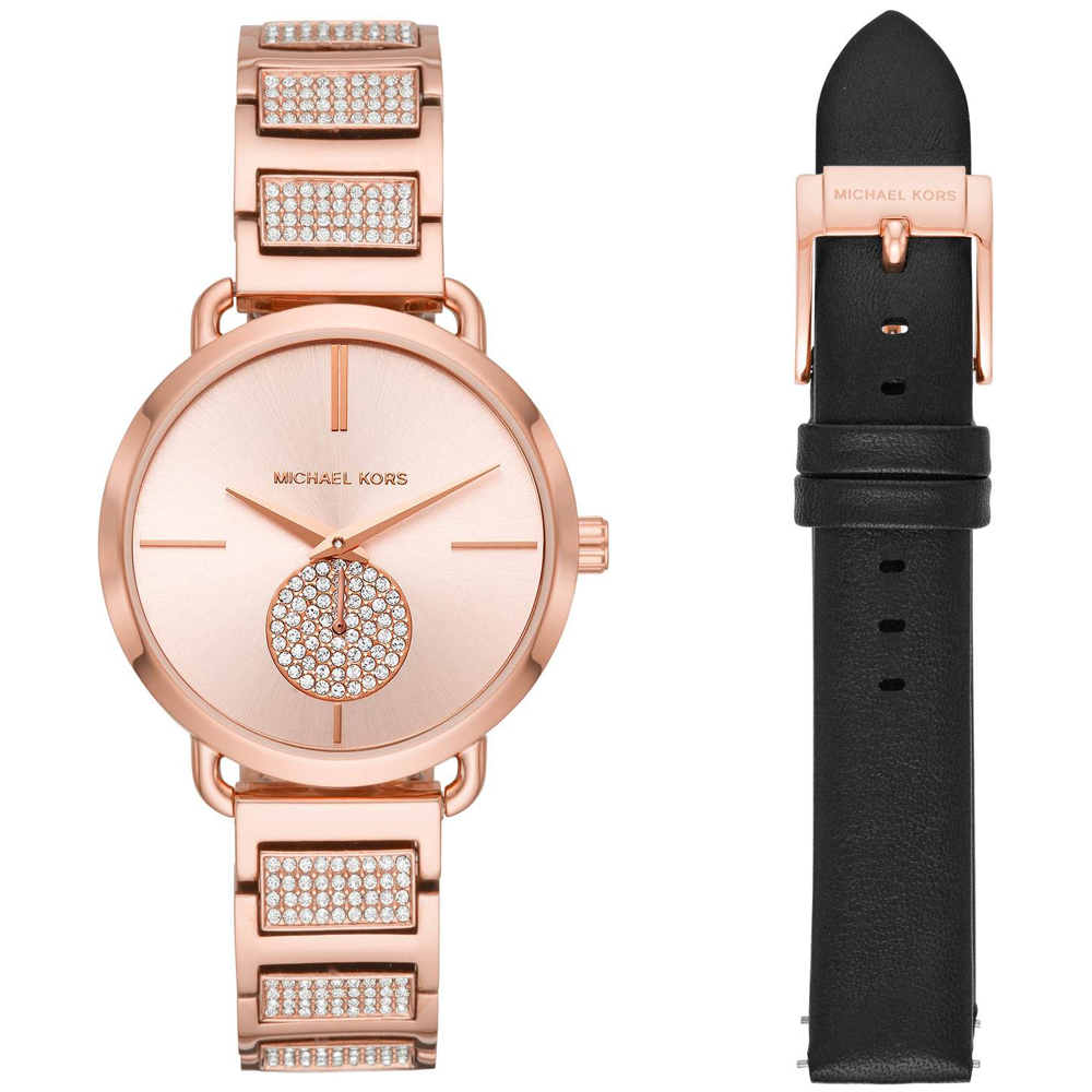 MICHAEL KORS Portia Crystals Rose Gold Stainless Steel Bracelet MK2776