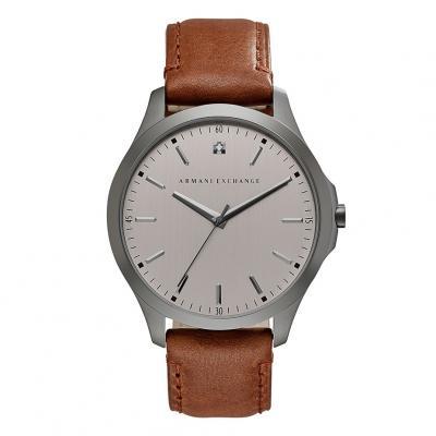 ARMANI EXCHANGE Hampton Brown Leather Strap AX2195