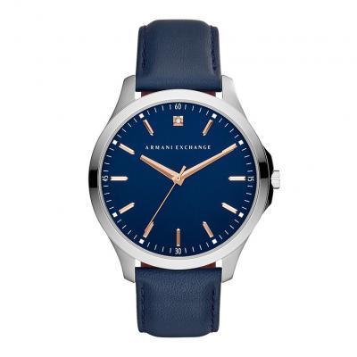 ARMANI EXCHANGE Hampton Blue Leather Strap AX2406
