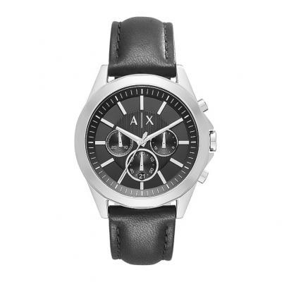 ARMANI EXCHANGE Drexler Black Leather Chronograph AX2604