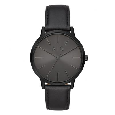 ARMANI EXCHANGE Mens Black Leather Strap AX2705