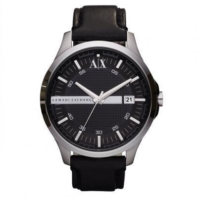 ARMANI EXCHANGE Hampton Black Leather Strap AX2101