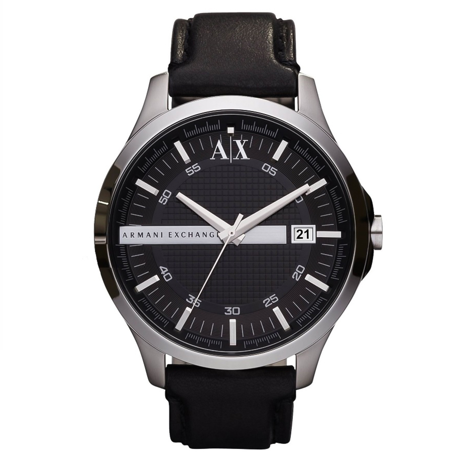 ARMANI EXCHANGE Hampton Black Leather Strap AX2101