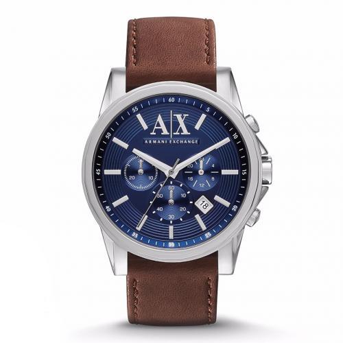 ARMANI EXCHANGE Outerbanks Brown Leather Chronograph AX2501