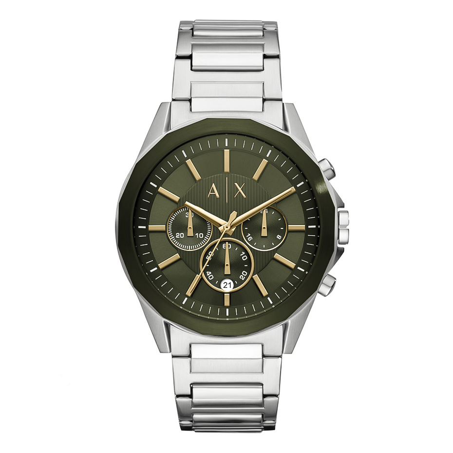 ARMANI EXCHANGE Mens Chrono Stainless Steel Bracelet AX2616