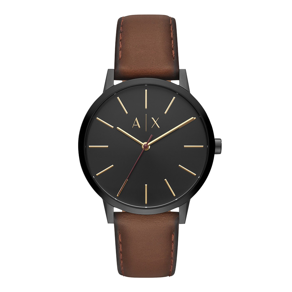 ARMANI EXCHANGE Cayde Brown Leather Strap AX2706
