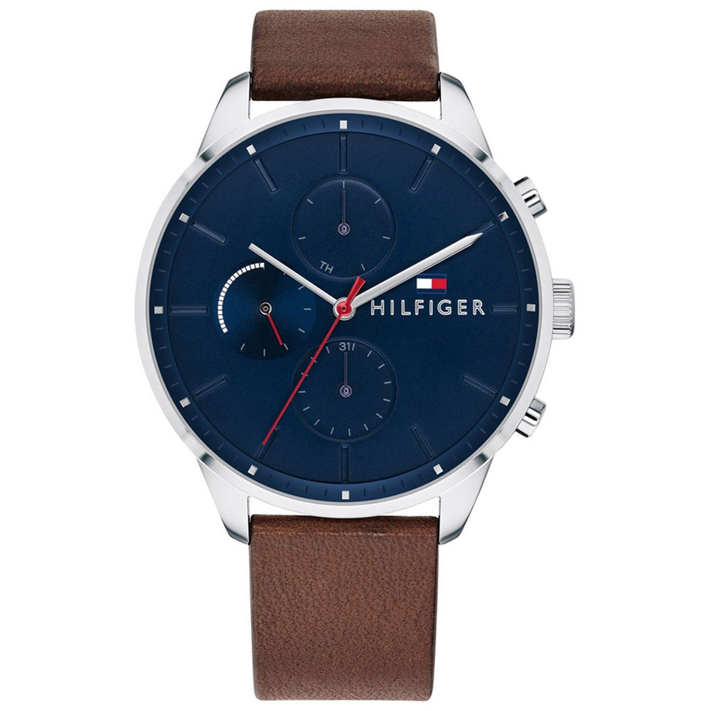 Tommy HILFIGER Chase Brown Leather Strap 1791487
