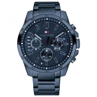 Tommy HILFIGER Decker Chronograph Blue Stainless Steel Bracelet 1791560