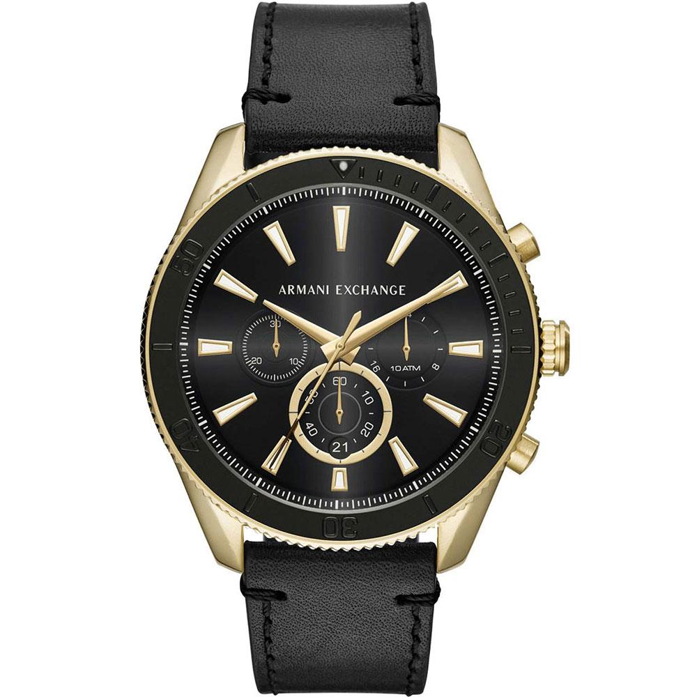 ARMANI EXCHANGE Chronograph Black Leather Strap AX1818