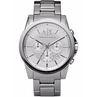 ARMANI EXCHANGE Outerbanks Chronograph Silver Stainless Steel Bracelet AX2058