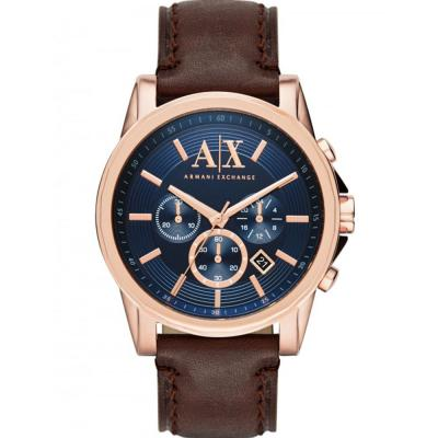 ARMANI EXCHANGE Outerbanks Chronograph Brown Leather Strap AX2508