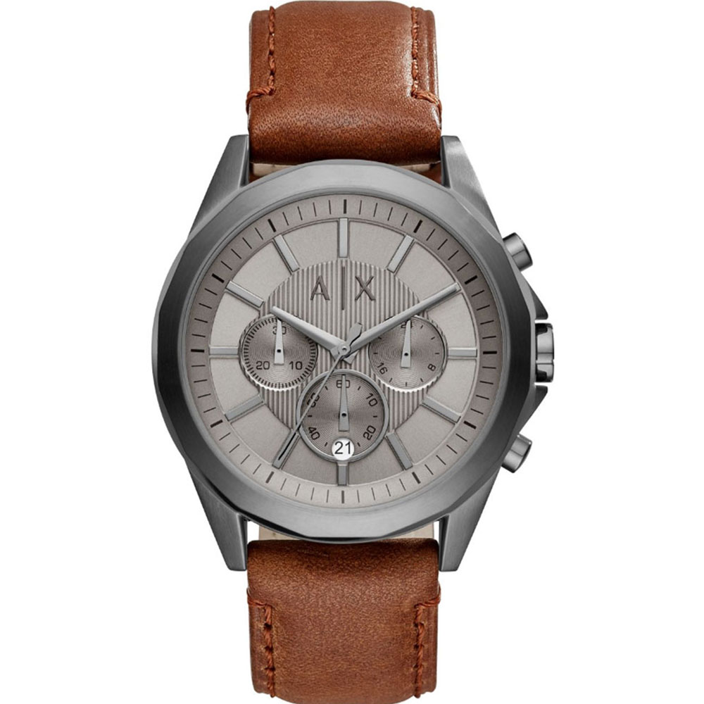 ARMANI EXCHANGE Drexler Brown Leather Strap AX2605