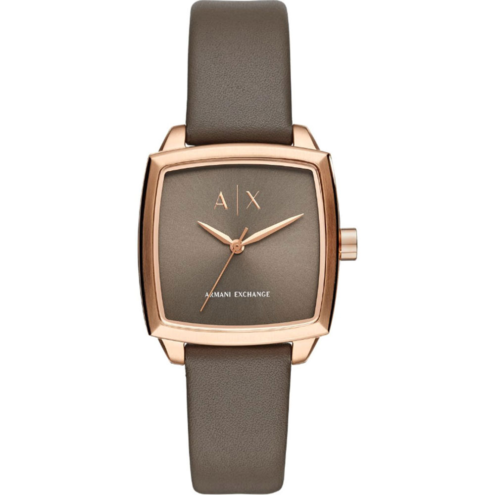 ARMANI EXCHANGE Nicolette Rose Gold Brown Leather Strap AX5454