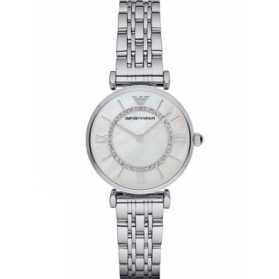 EMPORIO ARMANI Crystals Silver Stainless Steel Bracelet AR1908