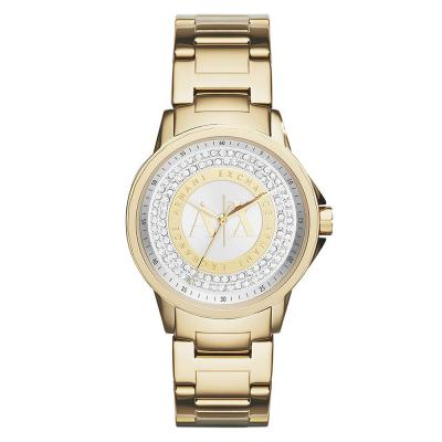 ARMANI EXCHANGE Banks Crystals Gold Stainless Steel Bracelet AX4321